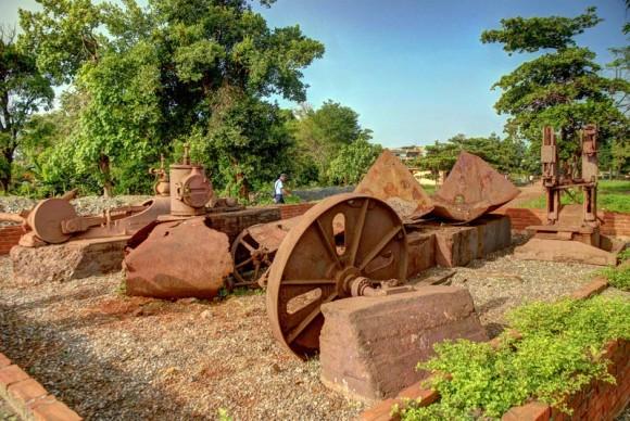 Ruinas conservadas del aserrío de Moa, considerado la piedra fundacional de la actual ciudad minera de Moa, ubicada al este de la provincia de Holguín, Cuba. FOTO/Juan Pablo Carreras