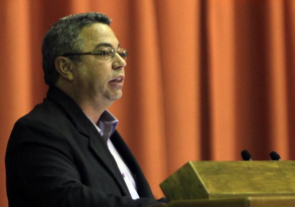 Ulises Guillarte de Nacimiento, Presidente del Comité Organizador del  XX Congreso de la CTC. Foto: Ismael Francisco/Cubadebate.