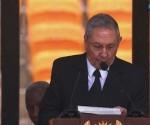 Raúl durante el discurso. Foto: Tomada de la TV.
