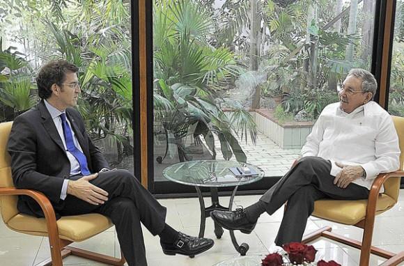 Visita Cuba el presidente de la Junta de Galicia. Foto: Estudios Revolución