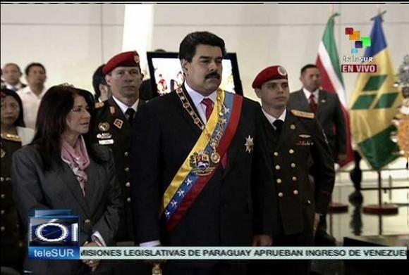 Maduro y su esposa, Cilia Flores.
