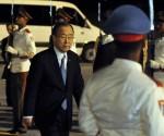 Ban Ki-moon, Secretario General de la Organización de las Naciones Unidas (ONU), ofrece declaraciones a la prensa, a su llegada al aeropuerto Internacional José Martí de La Habana, Cuba, el 26 de enero de 2014.  AIN FOTO/Marcelino VÁZQUEZ HERNÁNDEZ