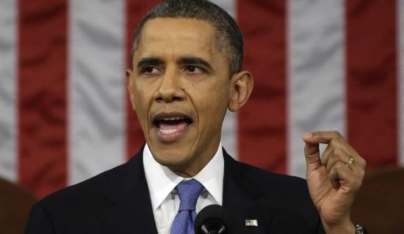 Barack Obma en su primer discurso a la nación de su segundo mandato. Foto: EFE.