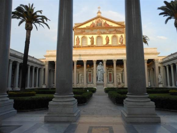 Vista de la Basílica de San Pablo, Roma, Italia.  Foto: Milagros, Embajada de Cuba en Italia