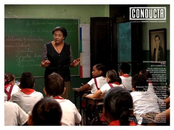 Carmela en clases. Foto: cortesía de Ernesto Daranas