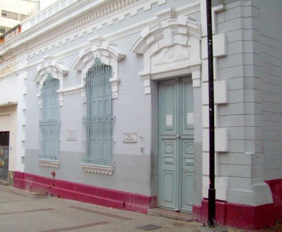 Casa donde residió José Martí durante su estancia en Caracas. Foto Héctor Valdés Domínguez