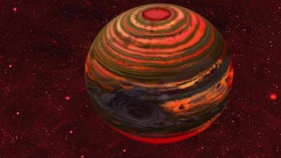 Se calculó que tiene nueve veces la masa de Júpiter y está 30 veces más lejos de su estrella de lo que el planeta más grande del sistema solar está del Sol. Foto: Tomada de televisa.com.