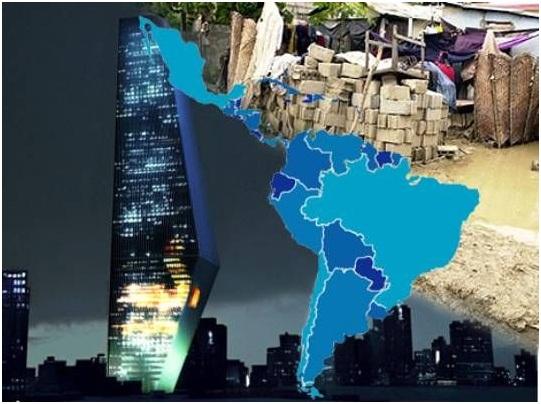América Latina y el Caribe es aún la región de mayor desigualdad del planeta. Gráfica tomada de MercoPress