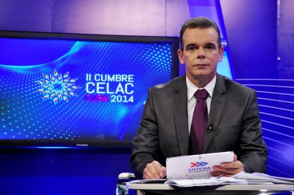 Froilán Arencibia anta las cámaras de la Cumbre de la CELAC. Foto: Roberto Garaicoa/ Cubadebate