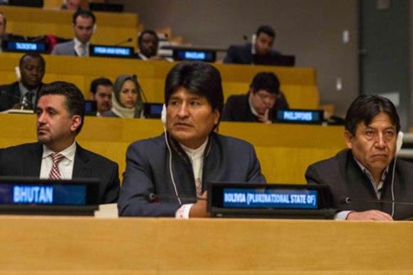 Evo pide celebrar 50 años del G77 más China el 15 de junio en Bolivia. Foto: Tomada de www.boliviaentusmanos.com.
