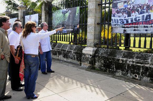 Inauguración de la exposición ampliada Chevrón-Texaco: igual a destrucción en el Ecuador. Foto: Ladyrene Pérez/Cubadebate.