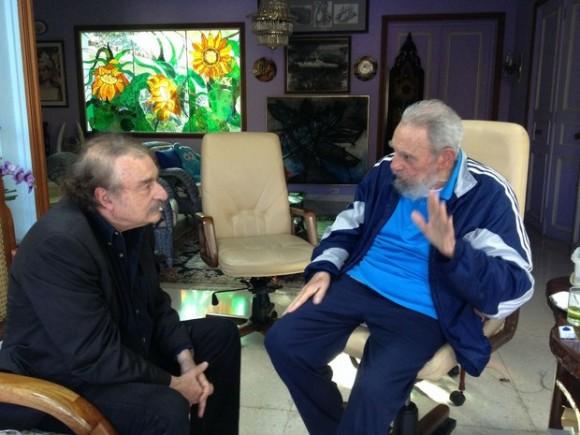 Fidel y Ramonet el  13 de diciembre de 2013. Foto: Alex Castro
