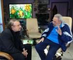 Fidel y Ramonet el pasado 13 dediciembre de 2013