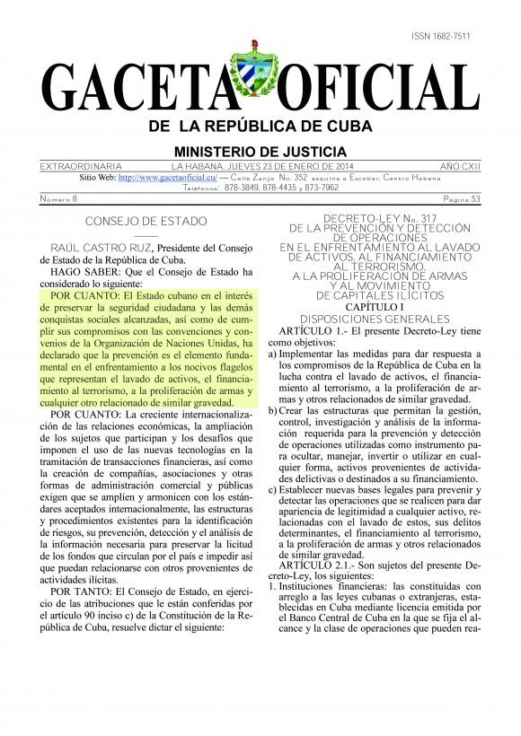 Gaceta Oficial No. 8/ 2014 -EXTRA ORDINARIA - Págs. (53 - 60)