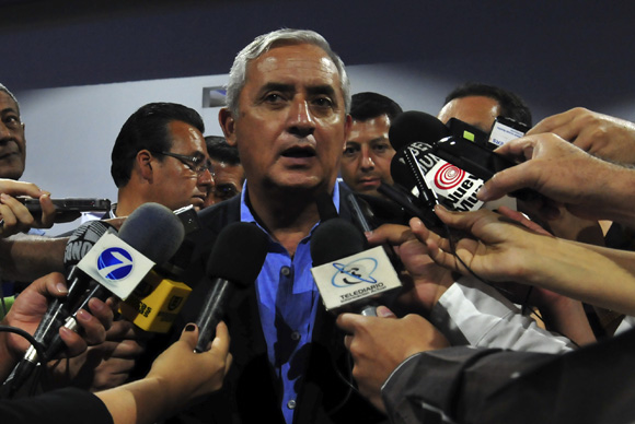 Otto Pérez Molina ofrece conferencia de prensa. Foto: Ladyrene Pérez/ Cubadebate