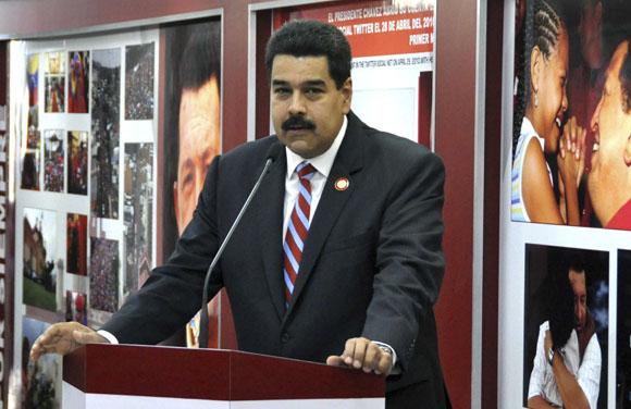 Nicolás Maduro, Presidente de la República Bolivariana de Venezuela, en la inauguración del Museo Hugo Chávez, en el complejo Morro-Cabaña, en La Habana, Cuba, el 29 de enero de 2014. AIN FOTO/Marcelino VÁZQUEZ HERNÁNDEZ.