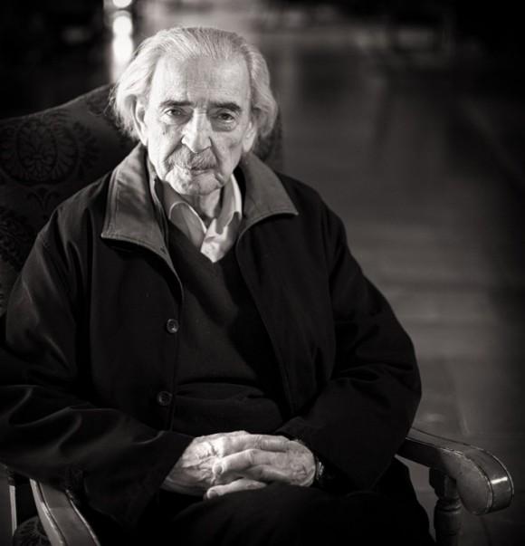 Juan Gelman en León. © Fotografía de José Ramón Vega.