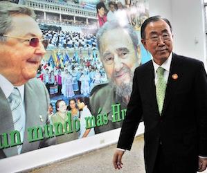 Ban Ki Moon felicita iniciativa de Cuba contra el ébola