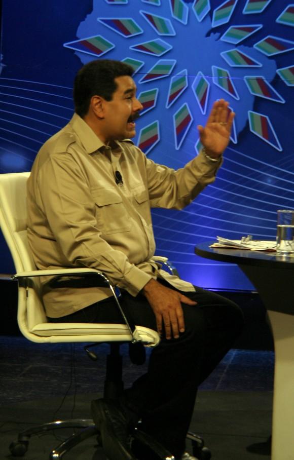 Entrevista del Presidente de Venezuela Nicolás Maduro con Cubadebate, Granma y la TV cubana.  30 de enero de 2014. Foto: Daylén Vega/Cubadebate