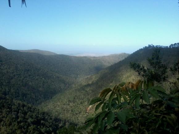 Pinares de Mayarí, desde el centro El Salto del Guayabo. Foto: Gerardo Luis Pupo