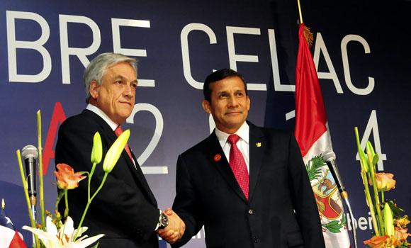 Piñera y Humala. Foto: Ladyrene Pérez/ Cubadebate