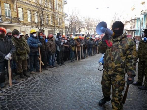 Ucrania: paramilitares.
