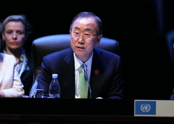 Ban Ki-moon interviene en la II Cumbre de la CELAC. Foto: Ismael Francisco/ Cubadebate