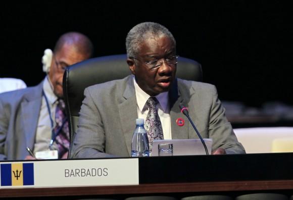 El Primer Ministro de Barbados, Freundel Stuart, en CELAC. Foto: Ismael Francisco/ Cubadebate