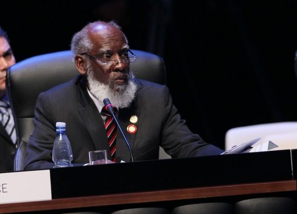 Habla el Ministro de Relaciones Exteriores de Belice,  Wilfred Elrington. Foto: Ismael Francisco/ Cubadebate