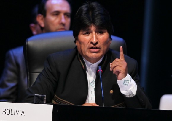 """Evo Morales recuerda a Fidel Castro, el """"primer guerrillero de Lationamericano"""". Foto: Ismael Francisco/ Cubadebate"""