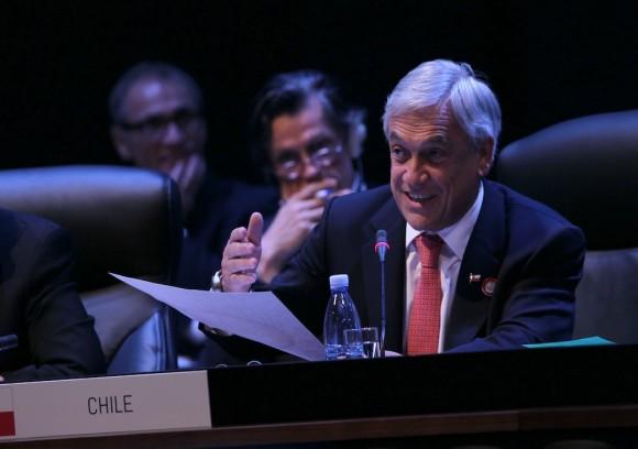 El Presidente Sebastián Piñera, en CELAC. Foto: Ismael Francisco/ Cuba