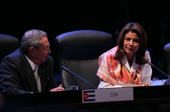 Habla la Presidenta de Costa Rica, Laura Chinchilla. Su país tendrá el mandato pro-témpore de CELAC este año. Foto: Ismael Francisco/ Cubadebate