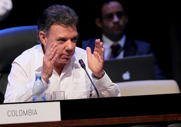 Juan Manuel Santos en la Cumbre. Foto: Ismael Francisco/ Cubadebate
