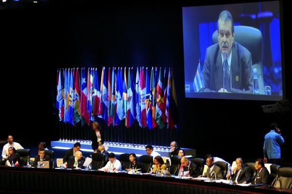 Abelardo Moreno, presidente de la Reunión de Coordinadores Nacionales de la CELAC, inaugura esta mañana el encuentro con sus homólogos de 33 países. Foto: Ladyrene Pérez/ Cubadebate