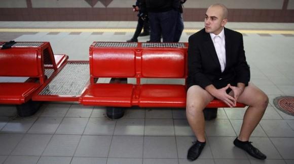 dDía sin pantalones en el metro