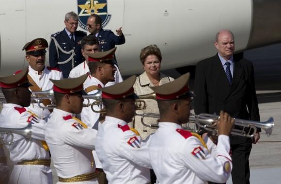 Dilma Rousseff en La Habana. Foto: Ramón Espinosa/ AP