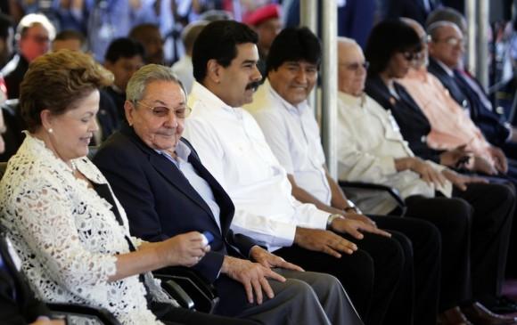 Los presidentes en la inauguración de la Terminal de Contenedores de Mariel. Foto: Ismael Francisco/ Cubadebate