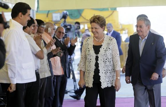 Dilma Rousseff en la inauguración de la Terminal de Contenedores de Mariel. Foto: Ismael Francisco/ Cubadebate