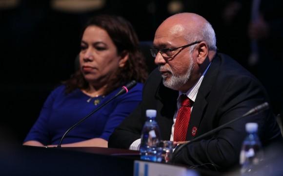 El Presidente de Guyana Donald Ramotar en la segunda sesión de la Cumbre. Foto: Ismael Francisco/ Cubadebate