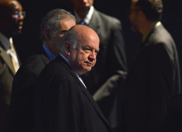 José Miguel Insulza llega al plenario. Foto: AP/ Adalberto Roque