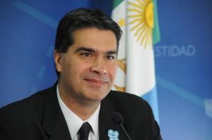 Jorge Capitanich, jefe del Gabinete de ministros de la nación argentina, aseguró aue el país que planea incrementar las exportaciones durante 2014 y 2015, con el objetivo de aumentar la entrada de divisas y estimular la producción de la industria local