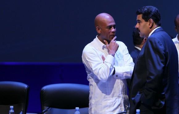 Nicolás Maduro y Michel Martelly, presidentes de Venezuela y Haití, respectivamente
