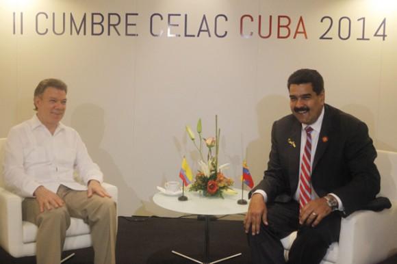 Este miércoles los presidentes Nicolás Maduro y Juan Manuel Santos se reunieron en La Habana. Foto: Prensa Presidencial de Venezuela