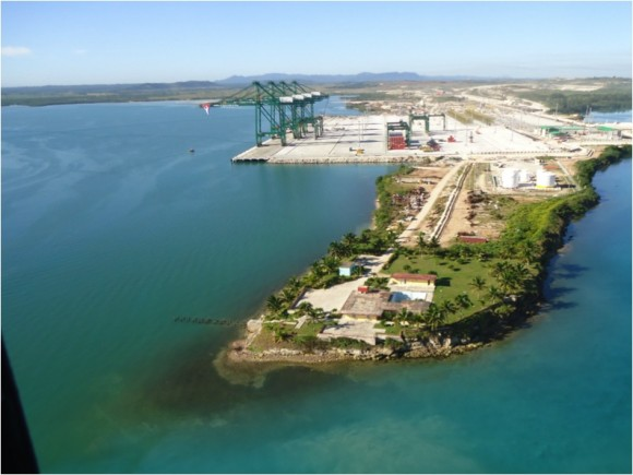 Vista aérea del Puerto de Mariel