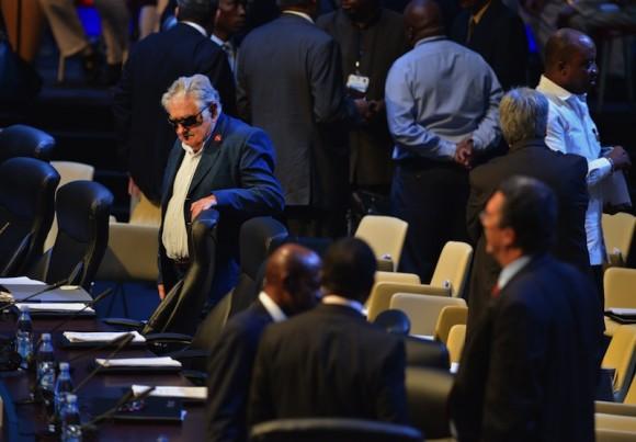 El Presidente Mujica, de Uruguay. Foto: AP/ Adalberto Roque