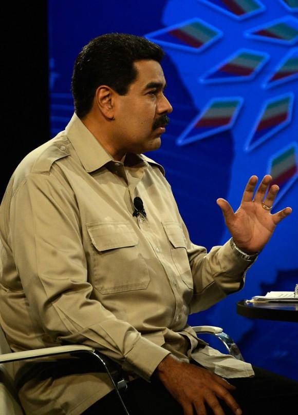 """""""Que se acostumbren a respetar, y que traten de buscar una nueva visión de nuestro continente. Con esta visión de dinosaurios no van a entender lo que está sucediendo y lo que está por suceder en nuestra vida económica, social y política en los años que están por venir"""": Nicolas Maduro. Foto: Indira Guerrero/ Noticias 24"""