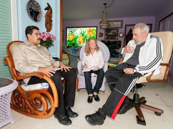 Fidel Castro Ruz recibió en la tarde del jueves a Nicolás Maduro Moros, presidente de la hermana República Bolivariana de Venezuela, quien participó  en la reciente  II Cumbre de la CELAC. Foto: Alex Castro.