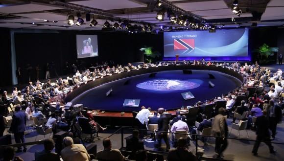 Un detalle del plenario de la II Cumbre de CELAC. Foto: Ismael Francisco/ Cubadebate