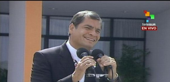 Rafael Correa. Cortesía de @Telesur.tv/ vía Twitter