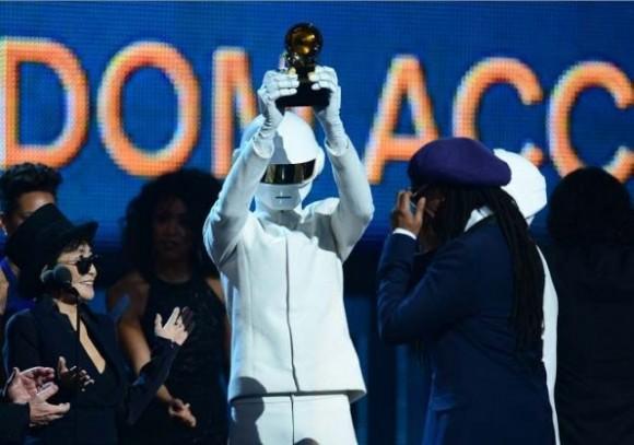 """Random Access Memories"", de Daft Punk, se llevó el Grammy al Álbum del Año. Foto: AFP."